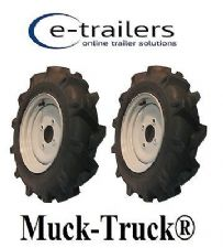 LEFT & RIGHT WHEEL TYRE FOR Muck-Truck® POWER-BARROWS MOTORISED WHEEL BARROW x 2